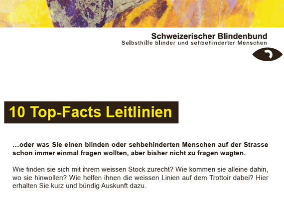 Flyer 10 Top-Facts Leitlinien